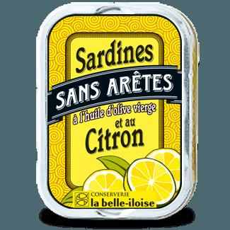 Sardiineja ruodoton oliiviöljyssä maustettu sitruunalla 115g la belle iloise
