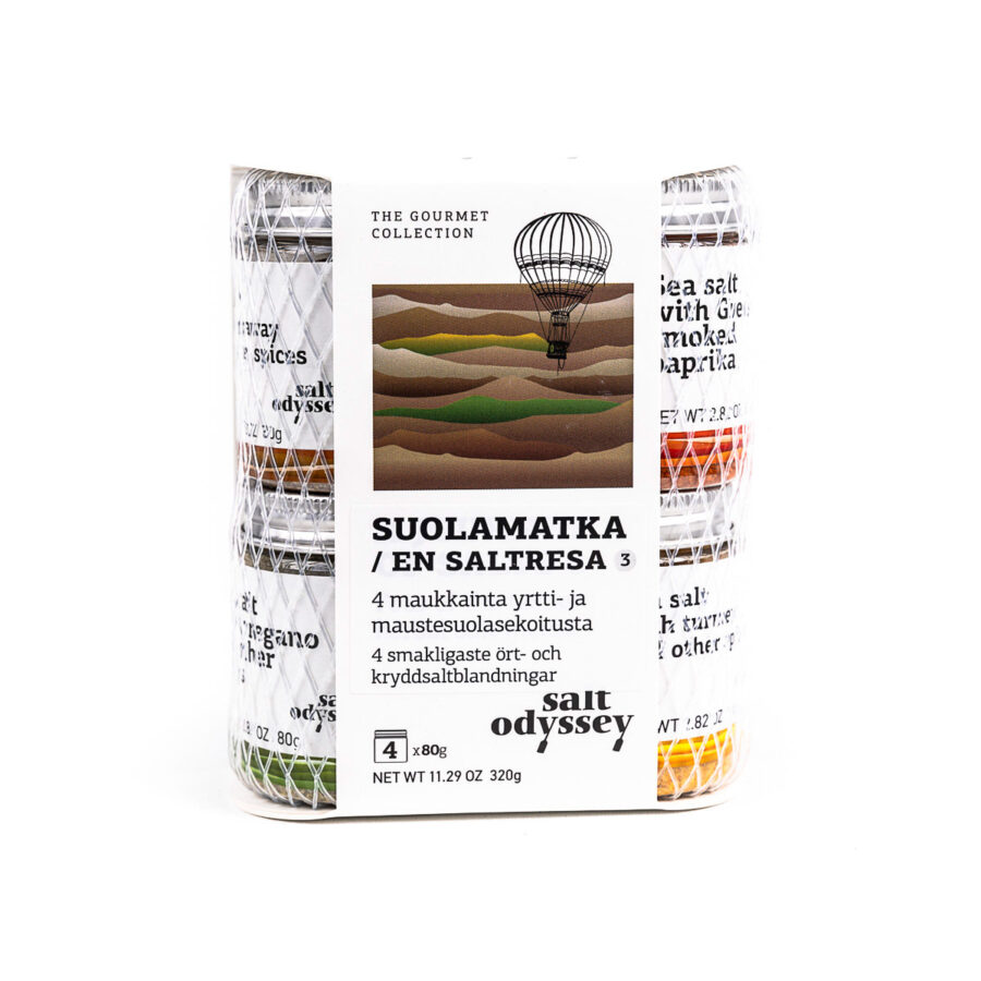 Kreikkalainen merisuolapakkaus 4 parasta mauste ja yrttisuolaa 4x80g