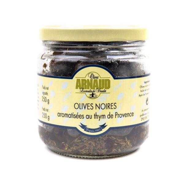 oliivit–tumma maustettu timjamilla 250g CR3